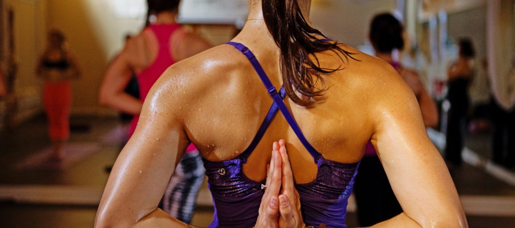 bikram yoga sweat